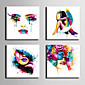 plátno Set Lidé Moderní,Čtyři panely Plátno Čtvercový Tisk Art Wall Decor For Home dekorace