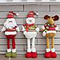1ks náhodný skládací horké prodej vánočních ozdob Santa Claus sněhulák vánoční figurky
