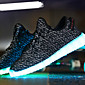 Unisex Running Shoes 2016 New Arrival LED Shoes High LED light luminous shoes USB charging Best Seller High Top Basket Fashion Sneakers Black / Grey