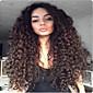 アフリカ系アメリカ人女性のための12インチ・22インチ部分のレースの前部かつらブラジルのバージンの人間の髪の毛の大きな巻き毛のかつら