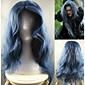 do lesa filmu custome cosplay čarodějnice Paruka modrá volná vlna módní denně přírodní syntetické paruky tepelně odolné vůči vysokým