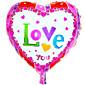 ヘリウム風船卸売アルミホイルバルーンの恋人の結婚式の装飾----- CYアルミニウム膜のハート型の愛あなた