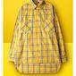 Majica Muškarci,Jednostavno Ležerno/za svaki dan Color block-Dugih rukava Kragna košulje-Proljeće Žuta Tanko Pamuk