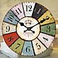 伝統風 田園風 レトロ風 フローラル キャラクター 音楽 壁時計,円形 30*30 屋内/屋外 クロック