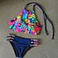 Ženski Bikini-Grudnjak na vezanjeS cvjetnim printom Na vezanje-Najlon